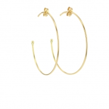 Medium 18k Yellow Gold Hoop Earrings Image
