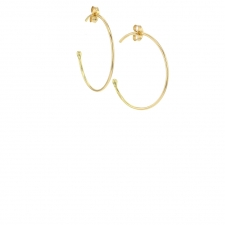 Small 18k Yellow Gold Hoop Earrings Image