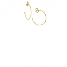 Tiny 18k Yellow Gold Hoop Earrings Image