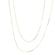 Long Sycamore Gold Strand Necklace Image