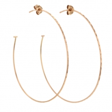 Extra Large Rose Gold Hoop Earrings Image