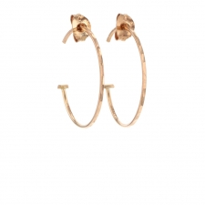 Small Rose Gold Hoop Earrings Image