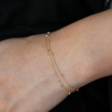18k Double Strand Gold Dust Bracelet Image