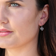 White Pearl Crest Earrings Image