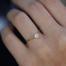 Antique Diamond Solitaire Ring Image