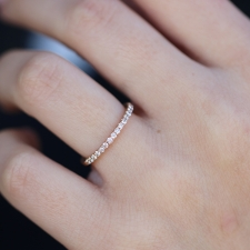 White Diamond Half Eternity Band Ring Image