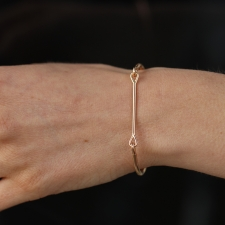 Rose Gold Needle Eye Cuff Image
