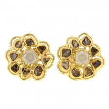 Diamond Flower Earrings Image