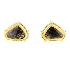 Unique Diamond Slice Post Earrings Image