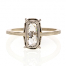Rectangular Rose Cut Diamond Solitaire Ring Image