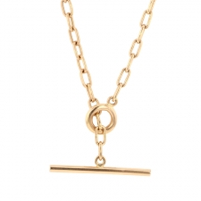 Heavy Weight 18k Rose Gold Chain with Toggle Image