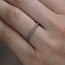 White Gold Twisted Thread Ring Image