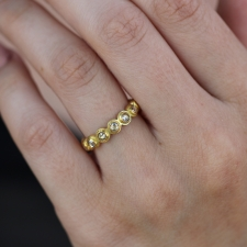 Champagne Diamond Cut-Away Eternity Band Image