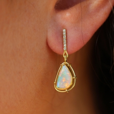 Opal and Diamond Drop Earrings Image