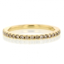 Champagne Diamond Gold Half Eternity Band Image