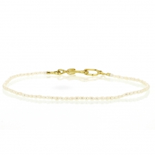 Pearl Bracelet with Handmade 18k Gold Clasp Image