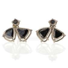 Black Diamond Triangular Cluster Earrings Image