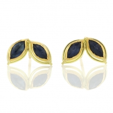 Dual Marquis Sapphire Post Stud Earrings Image