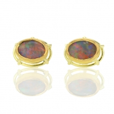 Opal Post Stud Earrings Image
