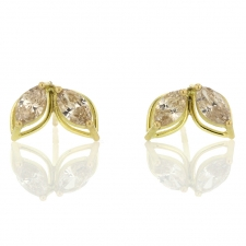 Dual Marquis Champagne Diamond Earrings Image