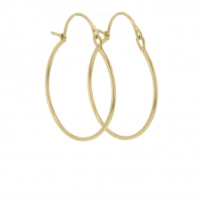 18k Gold Small Valance Hoop Earrings Image