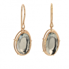 Aquamarine Drop 18k Rose Gold Palladium Earrings Image