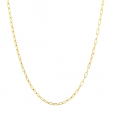 Silk Link 18k Gold Chain Necklace Image
