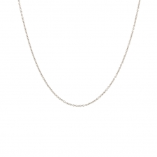 18k Palladium White Gold Cable Chain Necklace Image