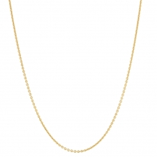 18k Yellow Gold Cable Chain Necklace Image