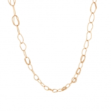 18k Rose Gold Organic Chain Necklace Image