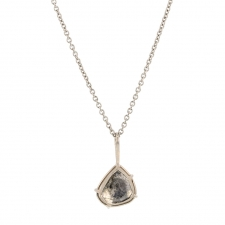 Salt & Pepper Diamond Slice Pendant (Chain Sold Separately) Image
