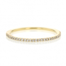 18k Yellow Gold Half Eternity Band Diamond Ring Image