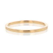 18k Rose Gold Squared Minimal Band Image