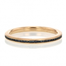 Sapphire 18k Rose Gold Eternity Band Ring Image