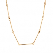 Needle Eye 18k Rose Gold Medium Weight Chain Necklace Image