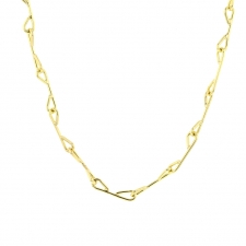 Staple Chain Gold Necklace Image