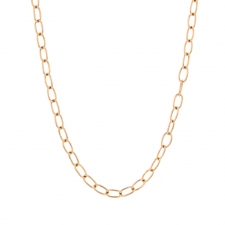 Petite Chain 18k Rose Gold Long Necklace Image