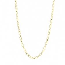 18k Yellow Gold Dual Long Chain Necklace Image