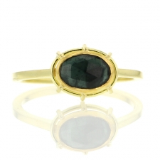 Tourmaline Gold Solitaire Ring Image