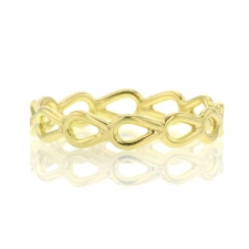 18k Yellow Gold Pear Lace Ring