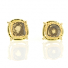 Asymmetrical Diamond Slice Post Stud Earrings Image