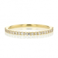 Half Diamond Eternity Gold Ring Image