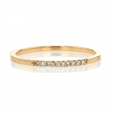 10 Stone Diamond Pave 18k Rose Gold Ring Image