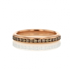 Rose Gold Champagne Diamond Eternity Band Image