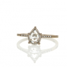 White Pear Shaped Diamond Ring Image