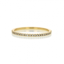 18k Half Diamond Eternity Band Image