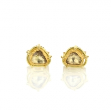 Rose Cut Diamond Gold Stud Earrings Image