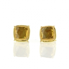 Diamond Slice Stud Earrings Image