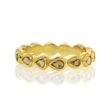 Diamond Cut Away Eternity Gold Band Image