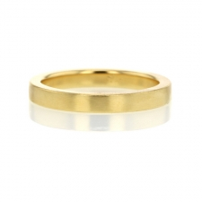 Minimal 18k Gold Band Image